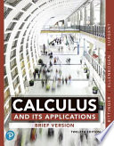 Calculus and Its Applications, Brief Version, Books a la Carte Edition