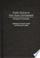 Public Policies in East Asian Development
