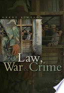 Cover of Law, War and Crime