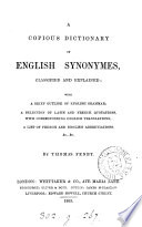 A Copious Dictionary of English Synonymes