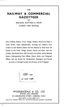 The Railway and Commercial Gazetteer of England  Scotland  and Wales