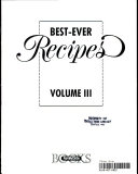 Best ever Recipes  Volume III