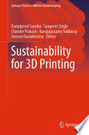 Sustainability for 3D Printing Book
