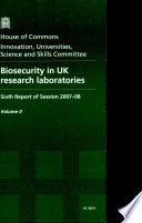 Biosecurity in UK Research Laboratories
