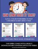 Printable Preschool Workbooks  How Long Does it Take