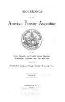 Proceedings of the American Forestry Association