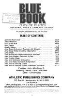 The Blue Book of College Athletics for Senior  Junior   Community Colleges