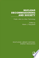 Nuclear Decommissioning And Society Book PDF