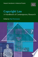 """Copyright Law: A Handbook of Contemporary Research"" by Paul Torremans"