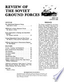 Review of the Soviet Ground Forces