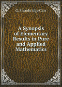 Pdf A Synopsis of Elementary Results in Pure and Applied Mathematics Telecharger
