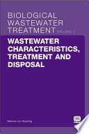 Wastewater Characteristics, Treatment and Disposal
