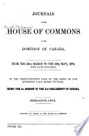 Journals of the House of Commons of the Dominion of Canada Book