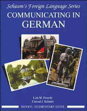 Communicating In German   Novice Level
