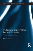 Predatory Pricing in Antitrust Law and Economics [Pdf/ePub] eBook