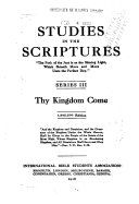 Pdf Studies in the Scriptures: Thy kingdom come
