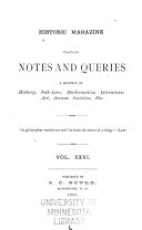 Historic Magazine And Notes And Queries