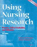 Using Nursing Research