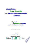 Geopolymer, Green Chemistry and Sustainable Development Solutions