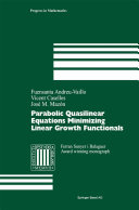 Parabolic Quasilinear Equations Minimizing Linear Growth Functionals