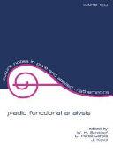 p adic Functional Analysis