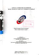 Companies Handbook of the Kuala Lumpur Stock Exchange Berhad