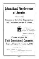 Proceedings of the Constitutional Convention of the International Woodworkers of America Book