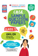 Oswaal CBSE Sample Question Papers Class 7 English  For March 2020 Exam
