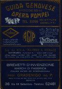 """Guida genovese """"Opera Pompei"""" amministrativa - industriale - commerciale della grande Genova e provincia"""