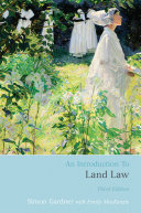 An Introduction to Land Law Pdf/ePub eBook