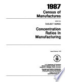 1987 Census of Manufactures: Subject series. 7 pts