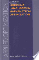 Modeling Languages in Mathematical Optimization Book