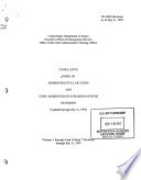 Index of Administrative Law Judge and Chief Administrative Hearing Officer Decisions