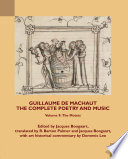 Guillaume De Machaut The Complete Poetry And Music Volume 9
