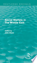 Social Welfare in The Middle East Book