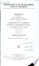 Implementation of the 1996 Safe Drinking Water Act Amendments