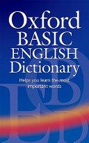 Oxford Basic English Dictionary Third Edition