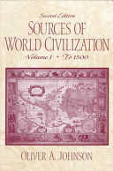 Sources of World Civilization  To 1500