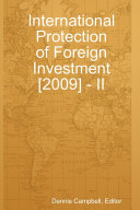 International Protection of Foreign Investment  2009    II