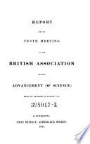 Tenth Meeting   Held At Glasgow In August 1840 Book