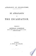 Athanasius de incarnatione  St  Athanasius on the Incarnation  tr  by A  Robertson Book