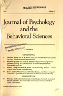 Journal of Psychology and the Behavioral Sciences