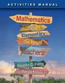 Mathematics for Elementary School Teachers Activities Manual