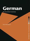 German: An Essential Grammar