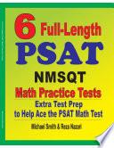 6 Full Length PSAT   NMSQT Math Practice Tests