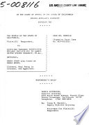 California. Court of Appeal (4th Appellate District). Division 2. Records and Briefs