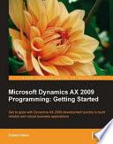 Microsoft Dynamics Ax 2009 Programming
