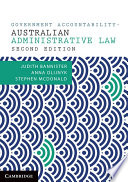 Cover of Government Accountability – Australian Administrative Law Sources and Materials