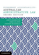 Government Accountability – Australian Administrative Law Sources and Materials