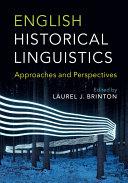 English Historical Linguistics